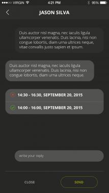 Rite App Screenshot conversation