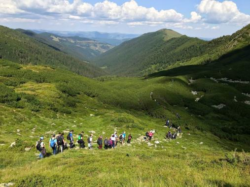 Hiking the Rodnei Mountains with ASSIST Software employees