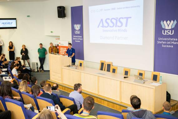 Codecamp Suceava opening event with ASSIST Software speaker - Alexandru Nistor