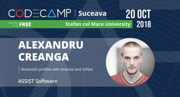 Reprezenting ASSIST Software, Alexandru Creangă will be a speaker at Codecamp Suceava