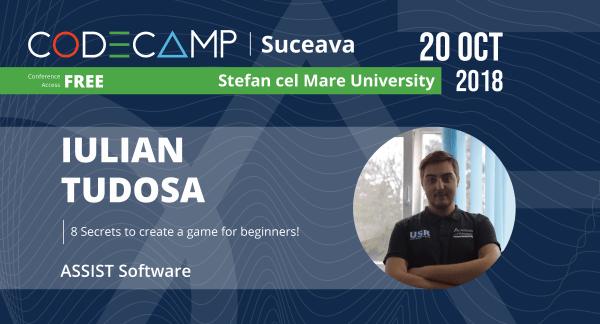 Codecamp Suceava speaker - Iulian Tudosa
