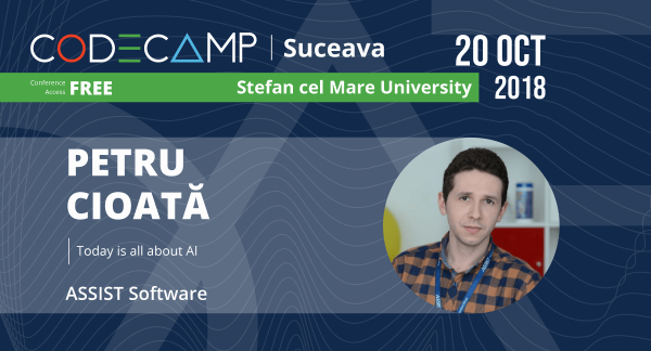 Petru Cioată - ASSIST Software employee, speaker at Codecamp Suceava