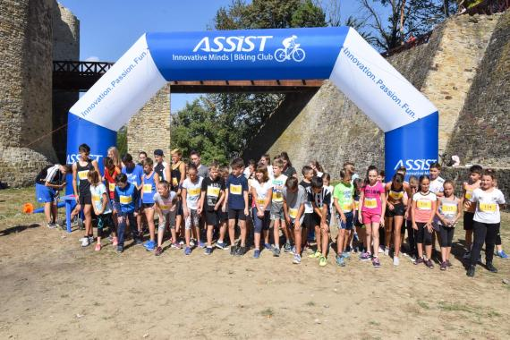 ASSIST Software finish and start gate at Suceava Marathon