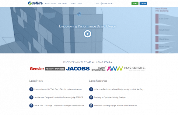 Sefaira Website